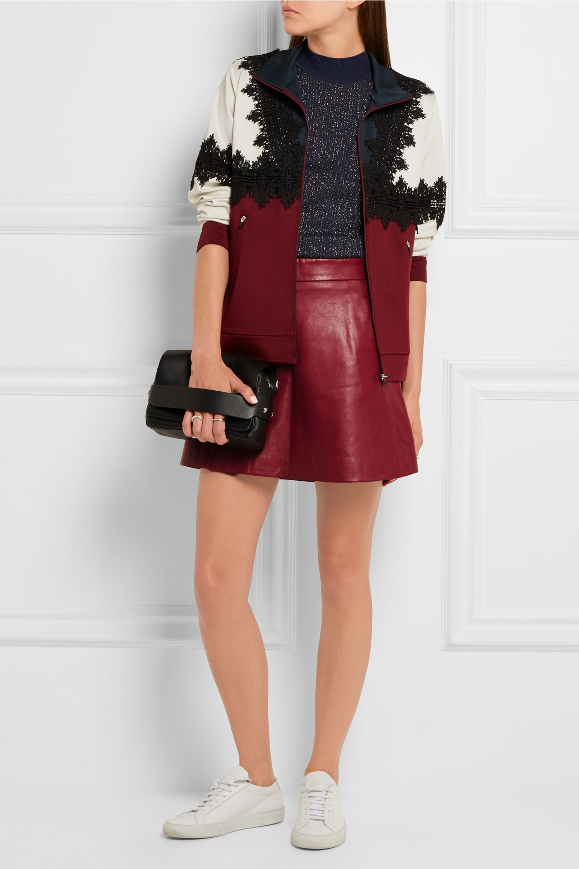 GANNI Leather mini skirt