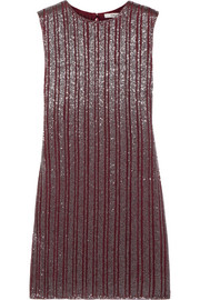 Humphrey beaded georgette mini dress