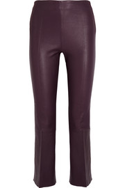 By Malene Birger Phase cropped leather flared pants