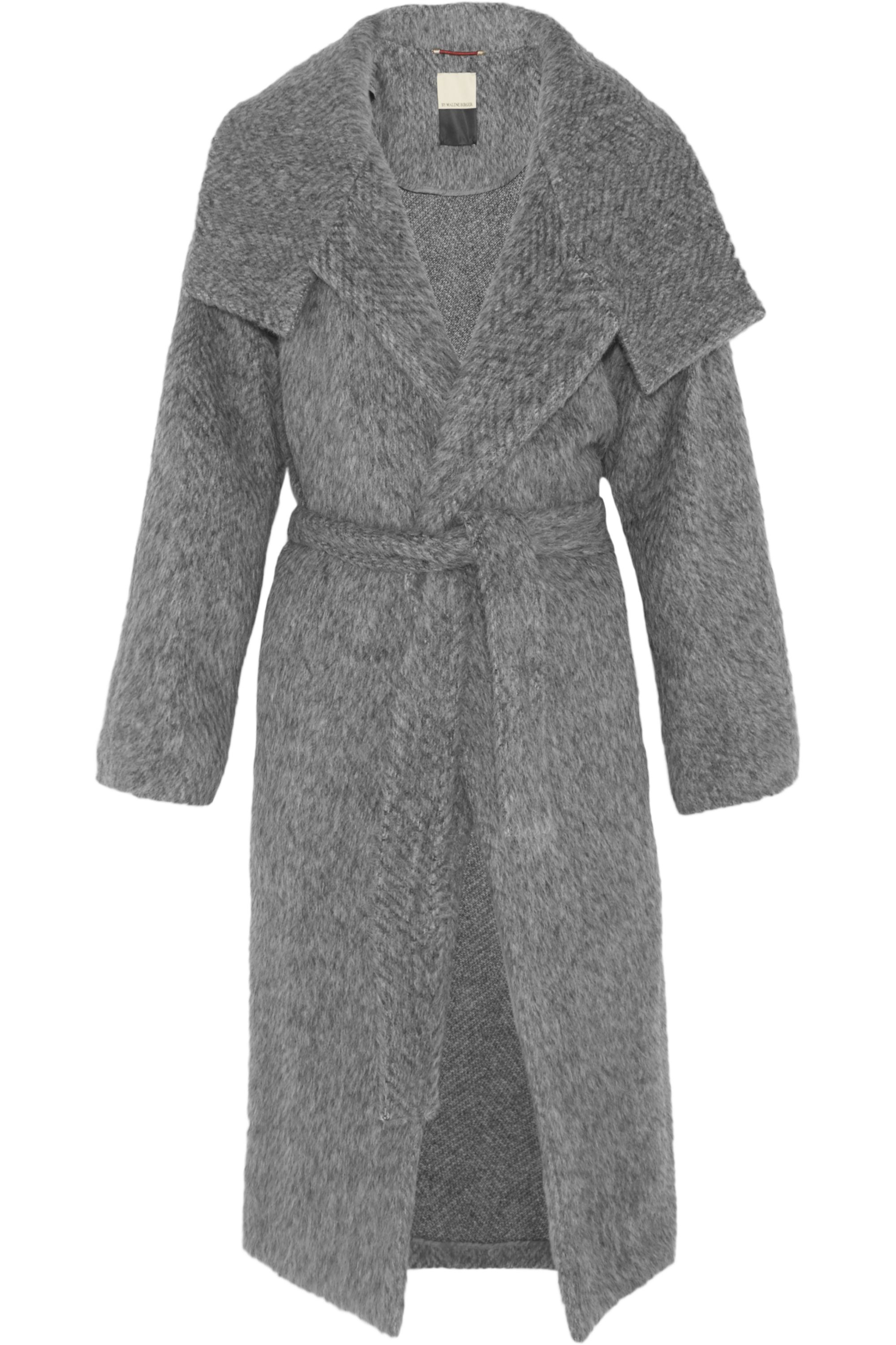 By Malene Birger Eclipse belted brushed woven coat