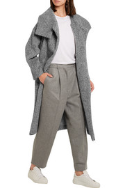 Eclipse belted brushed woven coat