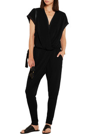 By Malene Birger Alendria satin-paneled stretch-crepe jumpsuit