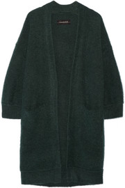 Rinorra oversized brushed stretch-knit cardigan