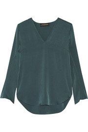 Mizar stretch-silk blouse
