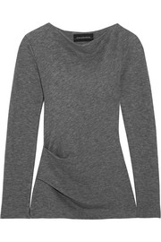 By Malene Birger Estralita gathered stretch-jersey top
