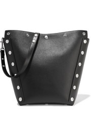 Camden studded textured-leather shoulder bag