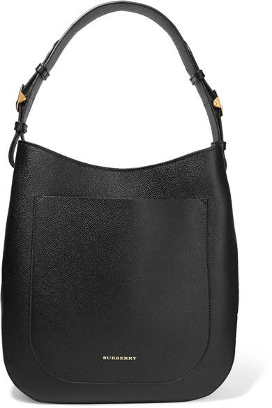 Burberry. Textured-leather shoulder bag f50445dfa9