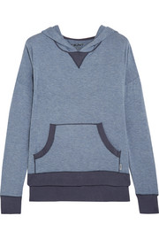 Stretch-modal hooded top