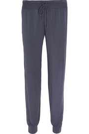 Cropped stretch-modal pants