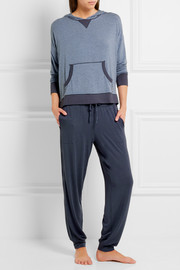 DKNY Cropped stretch-modal pants
