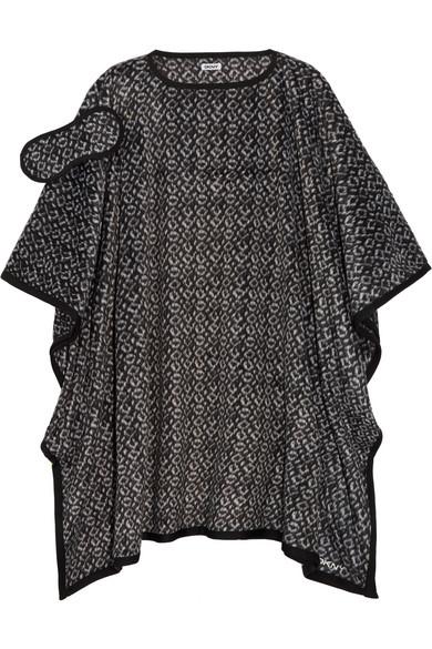 dkny female dkny brushed fleece poncho and sleep mask set black