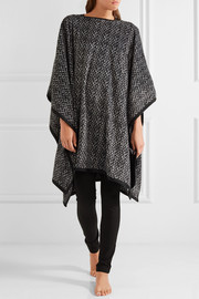 DKNY Brushed fleece poncho and sleep mask set