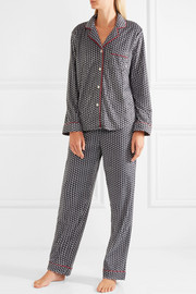 DKNY Printed velour pajama set