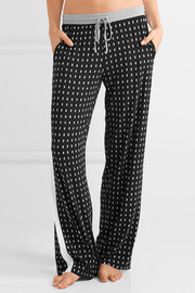 Printed stretch-modal jersey pajama pants