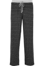 DKNY Printed stretch-modal jersey pajama pants