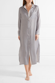 Striped satin nightdress