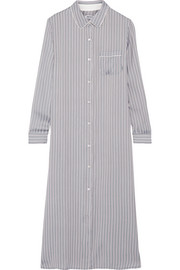 DKNY Striped satin nightdress