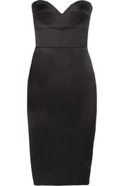 Victoria Beckham Strapless satin dress