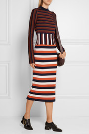 Victoria Beckham Striped wool-blend jersey dress
