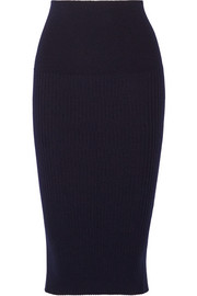 Victoria Beckham Ribbed-knit skirt