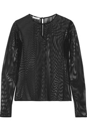 Oscar de la Renta Stretch-mesh top