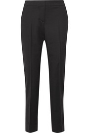 Oscar de la Renta Cropped stretch-wool tapered pants
