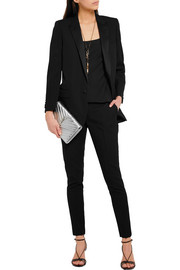 Saint Laurent Satin-trimmed wool blazer