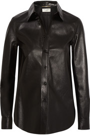 Glossed-leather shirt