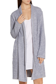 Cotton-blend terry robe