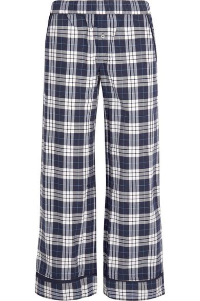 Skin - Plaid Pima Cotton Pajama Pants - Navy
