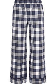 Plaid Pima cotton pajama pants