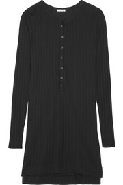Ribbed cotton-jersey nightdress