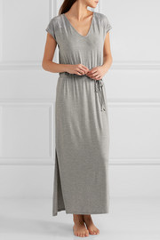 Lace-paneled stretch-jersey nightdress