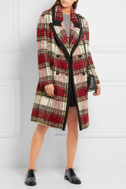 Burberry Tartan wool-blend coat