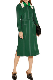 Burberry Stitched georgette dress