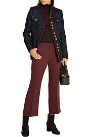 Burberry Prorsum Cropped wool and silk-blend straight-leg pants