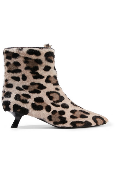 TOM FORD - Leopard-print Calf Hair Ankle Boots - Leopard print