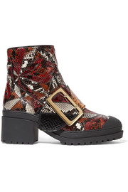 Burberry Prorsum Patchwork python ankle boots
