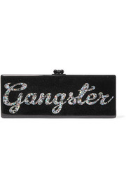 Flavia Gangster glittered acrylic box clutch
