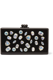 Jean Jewelie crystal-embellished acrylic box clutch