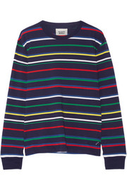 Stevie striped cotton-jersey pajama top