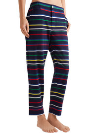 Striped cotton-jersey pajama pants
