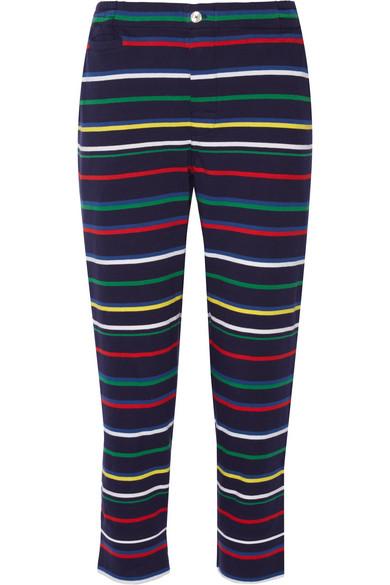 Sleepy Jones - Striped Cotton-jersey Pajama Pants - Navy