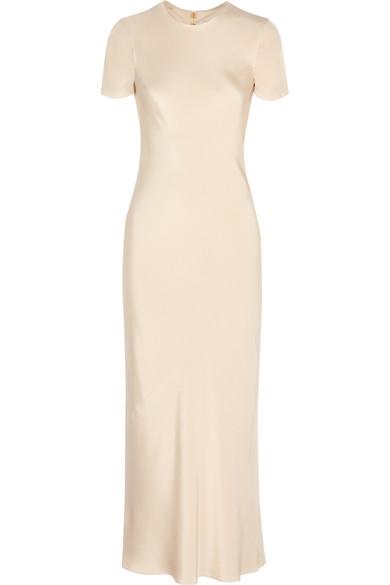 Tibi. Silk-satin maxi dress