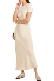 Tibi Silk-satin maxi dress