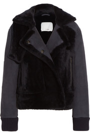 Tibi Paneled shearling jacket