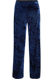 Tibi Stretch-velvet wide-leg pants
