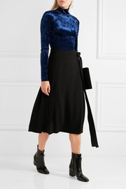 Tibi Stretch-velvet turtleneck top