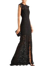 Estelle open-back lace gown