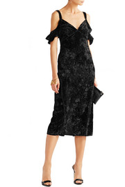 Kinsley off-the-shoulder velvet dress